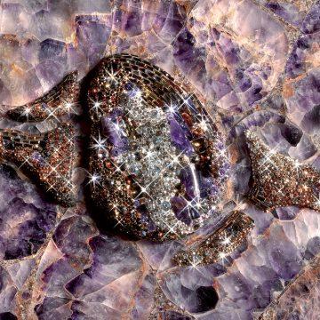 Amethyst (Swarovski) Schmuckstein violette