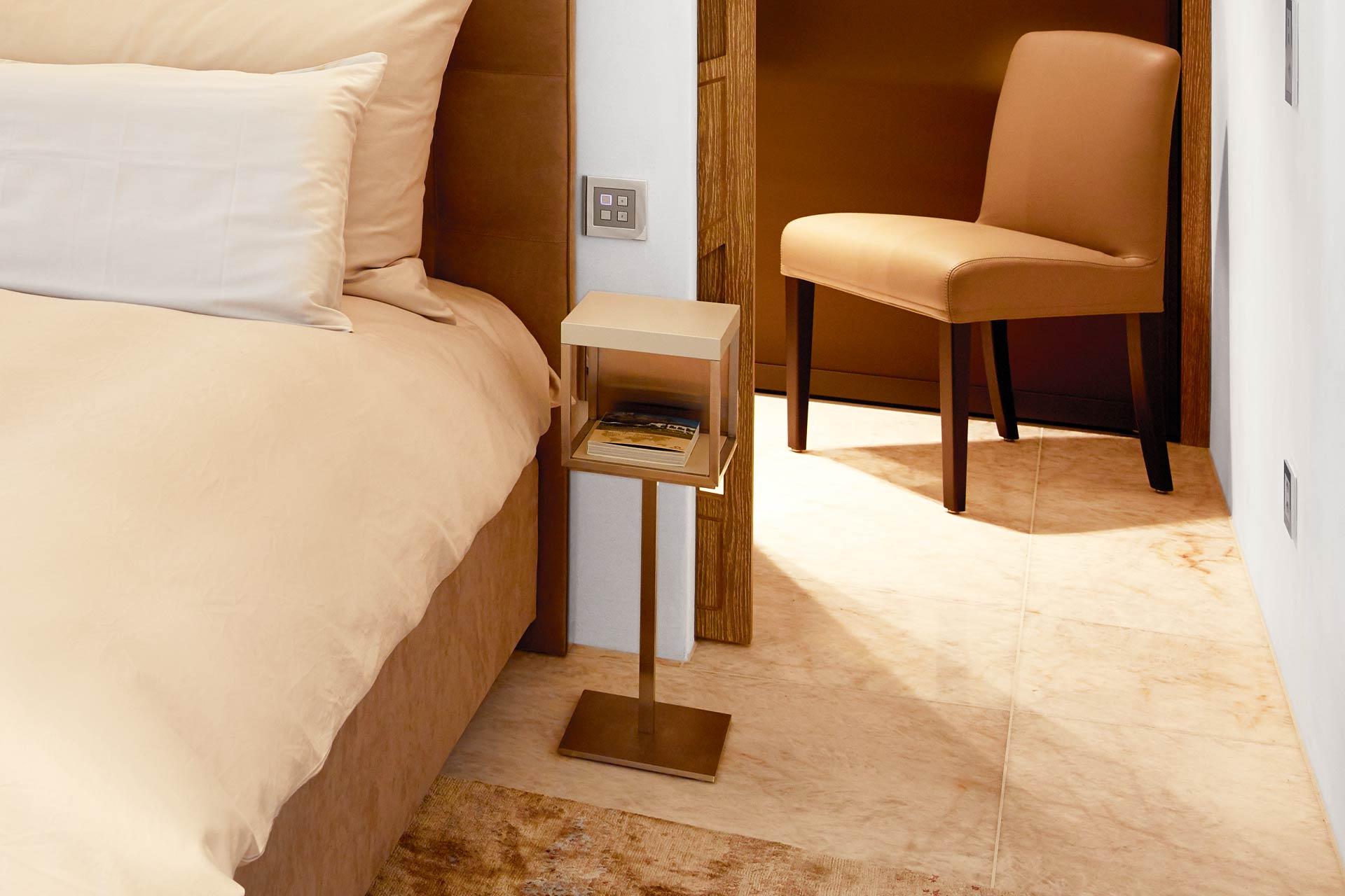 Marmor Boden im Schlafzimmer