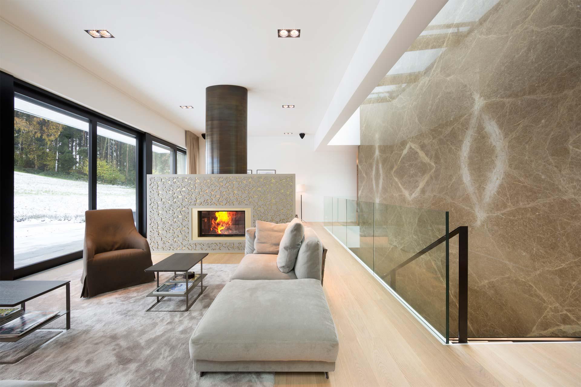 Marmor Wand Wohnzimmer