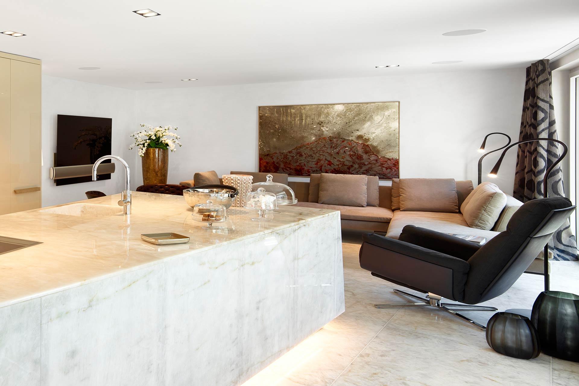 Marmor Wohnküche
