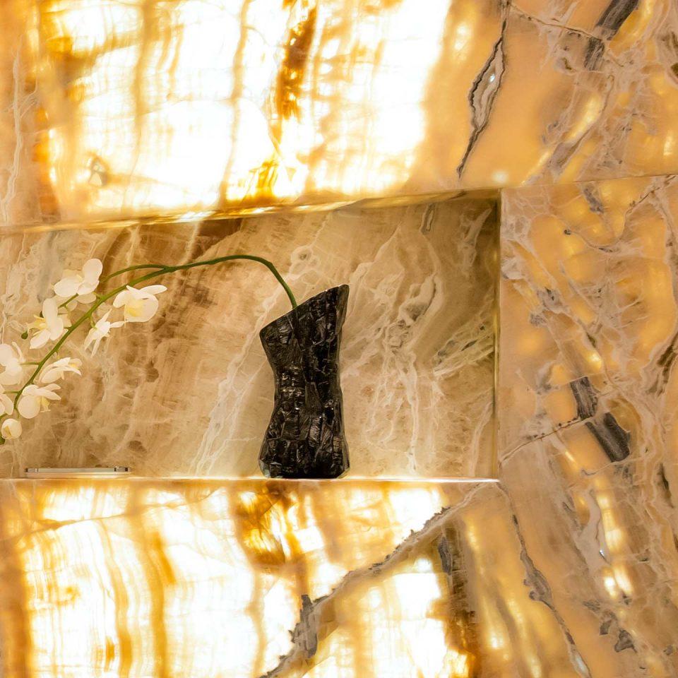 Naturstein Wand Hintergrund Beleuchtung