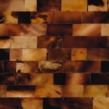 Brown Mother of Pearl (Large Brick) Muschel braun schwarz weiss beige