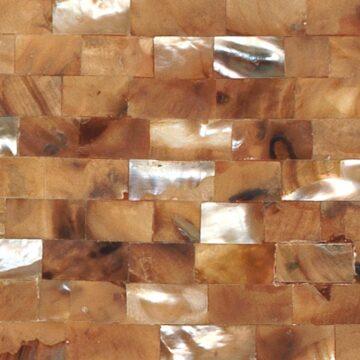 Moka Mother of Pearl (Large Brick) Muschel braun schwarz weiss beige