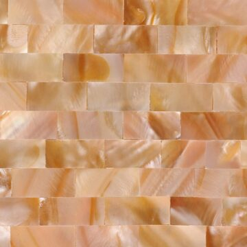Pink Mother of Pearl (Large Brick) Muschel pink rosa weiss