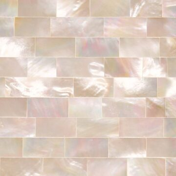 White M.O.P Rainbow (Large Brick) Muschel weiss multicolor rosa