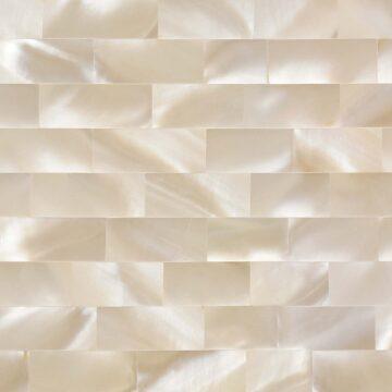 White M.O.P Snow (Large Brick) Muschel weiss